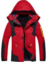 GEMYSE Men's 3 in 1 Waterproof Ski Snow Jacket Fleece Liner Warm Winter Jacket Coat