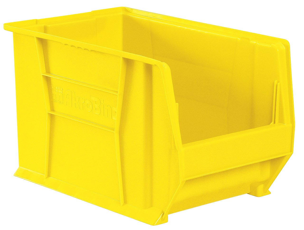 Akro-Mils 30283 Super-Size AkroBin Heavy Duty Stackable Storage Bin Plastic Container, (20-Inch L x 18-Inch W x 12-Inch H), Yellow, (1-Pack)