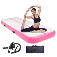 Air Track Gymnastics Mats 10ft 13ft 16ft 20ft Air Mat 4/8 Inches Thickness Tumbling Mat with Electric Air Pump for Gymnastic Training