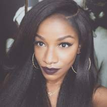 """MS.ILSA Italian Yaki Left U Part Wigs for Black Women 150 Density Brazilian Remy Human Hair Wigs Cheap Kinky Straight Non Lace Wigs for African Americans 18"""" Natural Color"""