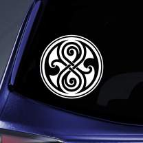 """Bargain Max Decals - Seal of Rassilon DW Whovian Logo Sticker Decal Notebook Car Laptop 6"""" (White)"""