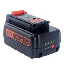 Lasica 40V MAX Lithium Battery 3000mAh LBX2040 LBXR36 for BLACK+DECKER 36V 40V Cordless Tools Battery LHT2240CFF LCS1240B LST136B LCC140 LCC340C LSWV36 LCS40 LCS36 Black and Decker 40V Lithium Battery