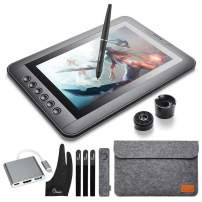 """Parblo Mast10 10.1"""" Graphic Tablet Drawing Monitor with Battery-Free Drawing Tablet Pen Passive Stylus, Shortcut Keys, USB USB Type C Cable Adapter for Digital Art Sketch, Paint, Design"""