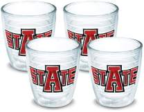 Tervis 1007810 Arkansas State Red Wolves Tumbler with Emblem 4 Pack 12oz, Clear