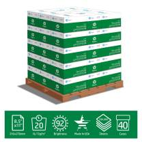 HP Printer Paper Recycled30 20lb, 30% post-consumer recycled, 8.5x11, 40 Case Pallet, 200,000 Sheets, Loading Dock Delivery, Made in USA, FSC Certified, 92 Bright, Acid Free, HP Compatible, 112100P