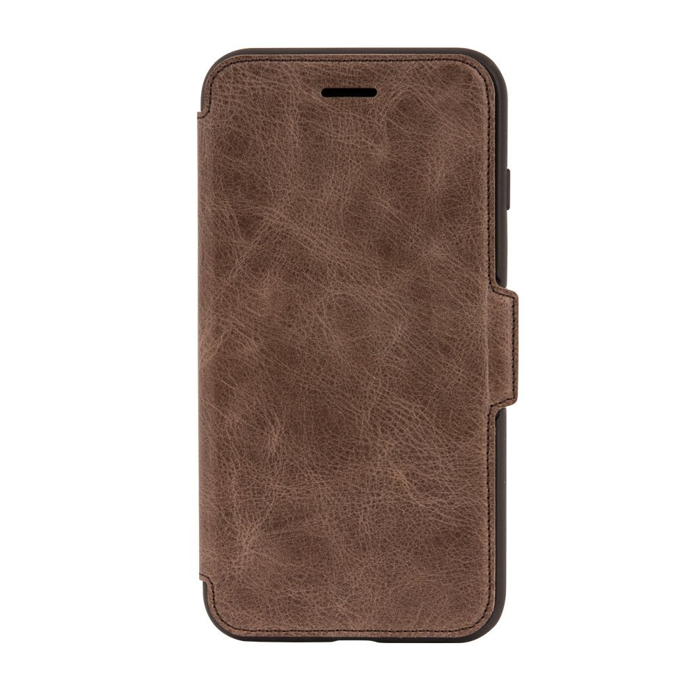 OtterBox STRADA SERIES Case for  iPhone 8 Plus & iPhone 7 Plus (ONLY) - Retail Packaging - ESPRESSO (DARK BROWN/WORN BROWN LEATHER)