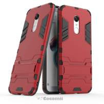 Cocomii Iron Man Armor Xiaomi Redmi Note 5/Redmi 5 Plus Case, Slim Thin Matte Vertical & Horizontal Kickstand Reinforced Drop Protection Fashion Bumper Cover for Xiaomi Redmi Note 5/Redmi 5 Plus (Red)