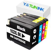 YATUNINK Remanufactured Ink Cartridge Replacement for HP 932XL 933XL HP 932 933 N9H56FN CN057AN for HP Officejet 6600 6700 7110 7610 7612 6100 Printer (1 Black 1 Cyan 1 Magenta 1 Yellow, 4Pack)