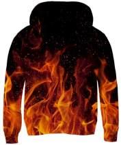 RAISEVERN Boys Girls Hoodies 3D Print Pullover Hooded Fleece Sweatshirts for 5-13 Years