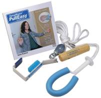 RangeMaster PullEasy Shoulder Pulley with Patient Guide │Physical Therapy Shoulder Pulley │ Aids with Shoulder Surgery Recovery │ Grip-Free Hold │ Metal Bracket Door Attachment