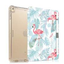 iPad 9.7 Case 2018 /2017 Slim Lightweight Case for iPad 9.7 5th /6th Generation, Protective Shockproof Case for iPad air 2 / iPad air, iPad 9.7 inch Case Cover with Pencil Holder - Flamingo