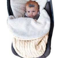 XMWEALTHY Baby Girls Boys Wrap Swaddle Blankets Newborn Infant Knit Plush Receiving Blankets Sleeping Sack Beige