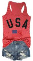 Women's USA Tank Top American Flag Racerback Tanks Top for Women Sleeveless Patriotic Tanks Shirt