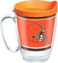 Tervis NFL Cleveland Browns Legend Tumbler with Wrap and Orange Lid 16oz Mug, Clear