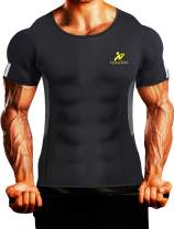 Mens Waist Trainer Vest Hot Sweat Shirt Body Shaper Neoprene Sauna Suit Workout Cami for WeightLoss Tummy Fat Loss
