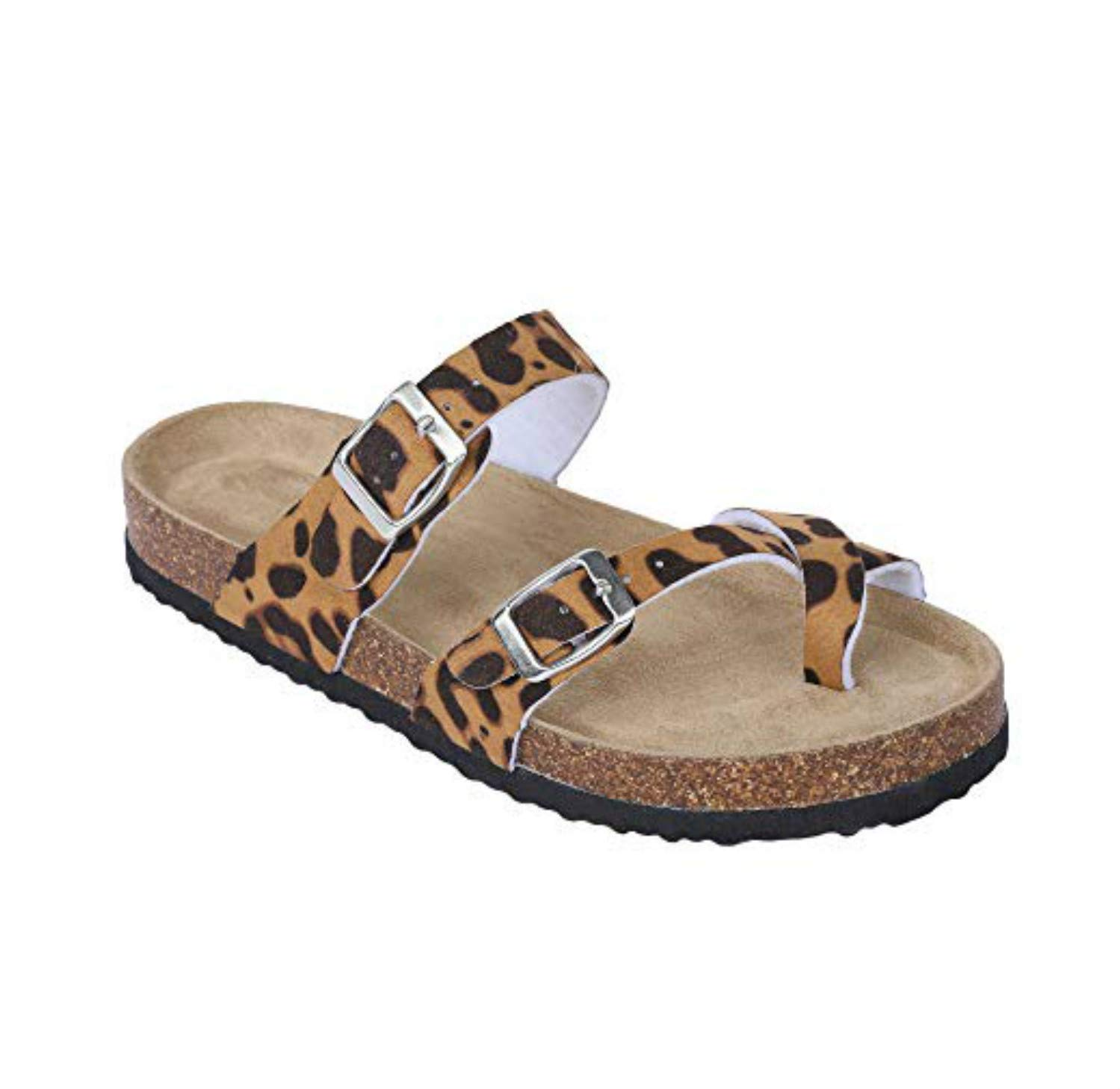 Liyuandian Womens Cross Toe Fashion Flat Ankle Buckle Thong Flip Flop Strappy Summer Sandals