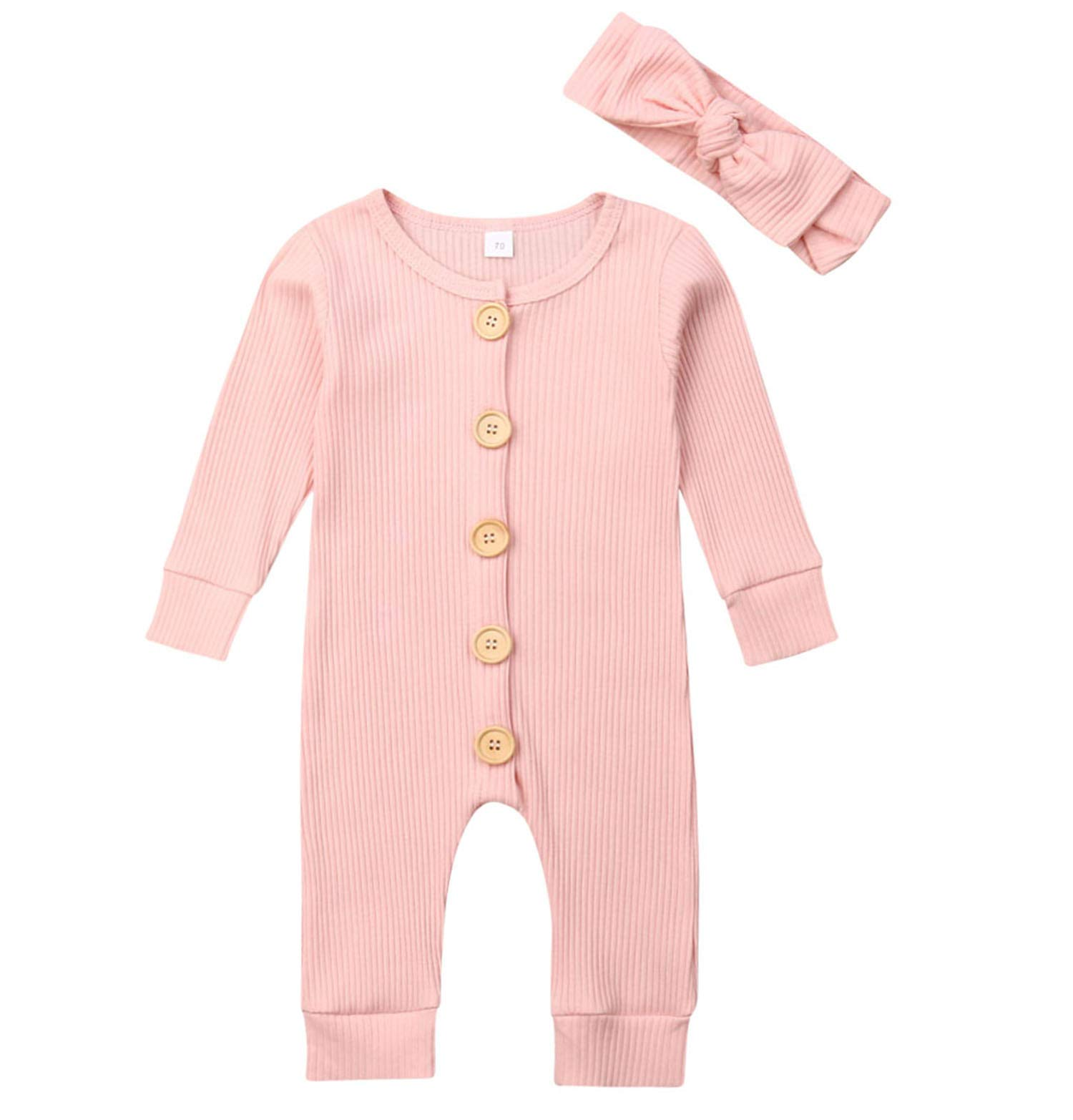 Lefyira Unisex Baby Cotton Linen Solid Color Romper Cute Bodysuit with Button Short Sleeve Infant Summer Clothes