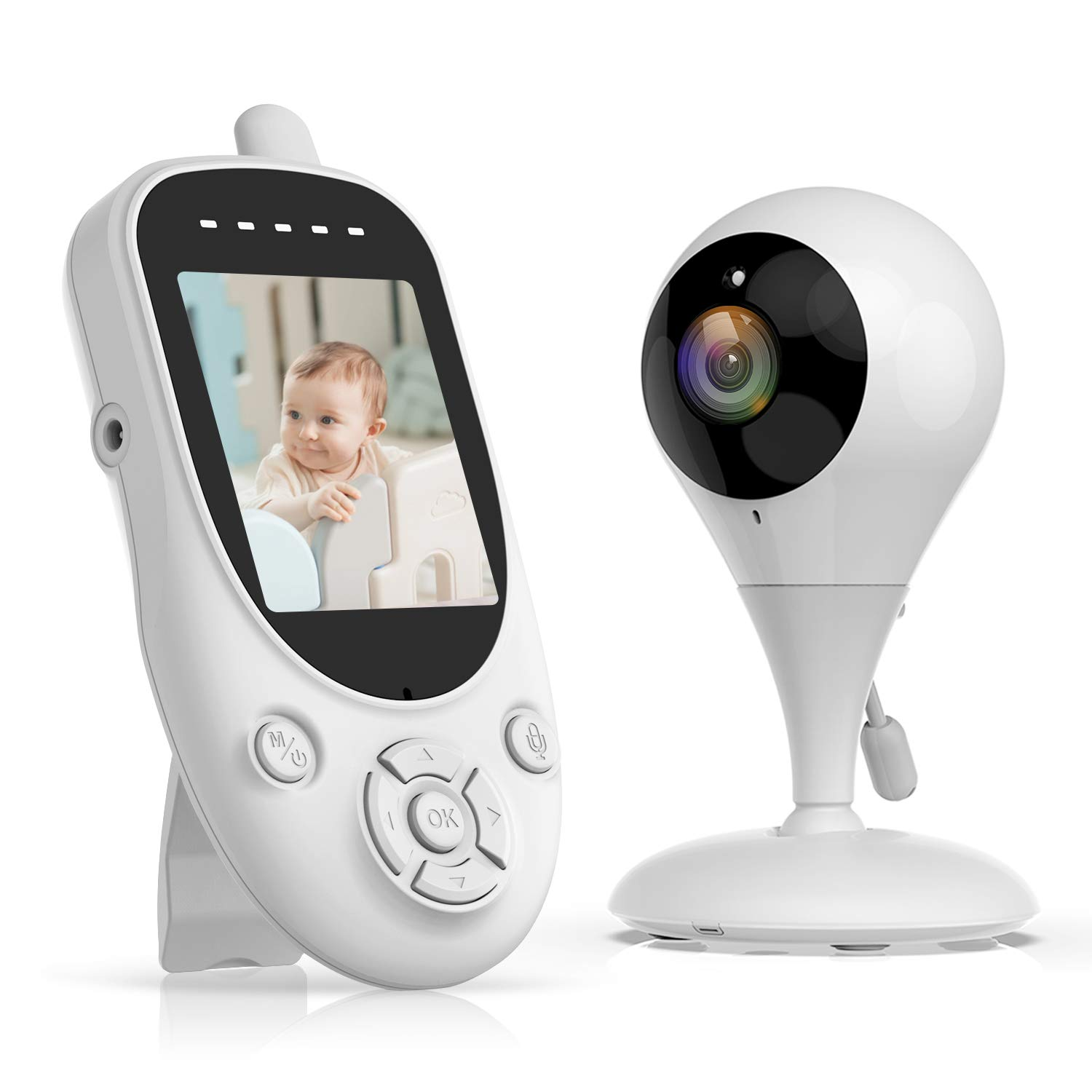 Campark Video Baby Monitor with 2.4GHz Wireless Digital Camera, 1000ft Range Transmission, Auto Night Vision, 2-Way Talk, VOX and Lullabies