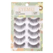 False Eyelashes 3D Faux Eyelashes 5 Pairs Queen Lashes Handmade Natural Soft Dramatic for Makeup Natural Looking by EYEMEI