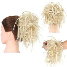 PrettyWit Tousled Scrunchie Messy Hair Bun Updo Hairpiece Wavy Bun Extensions Fluffy Wrap On Instant Ponytail-18H613