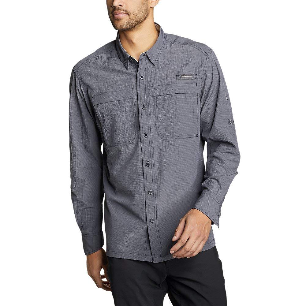 Eddie Bauer Men's Guide Long-Sleeve Shirt, Navy Regular M