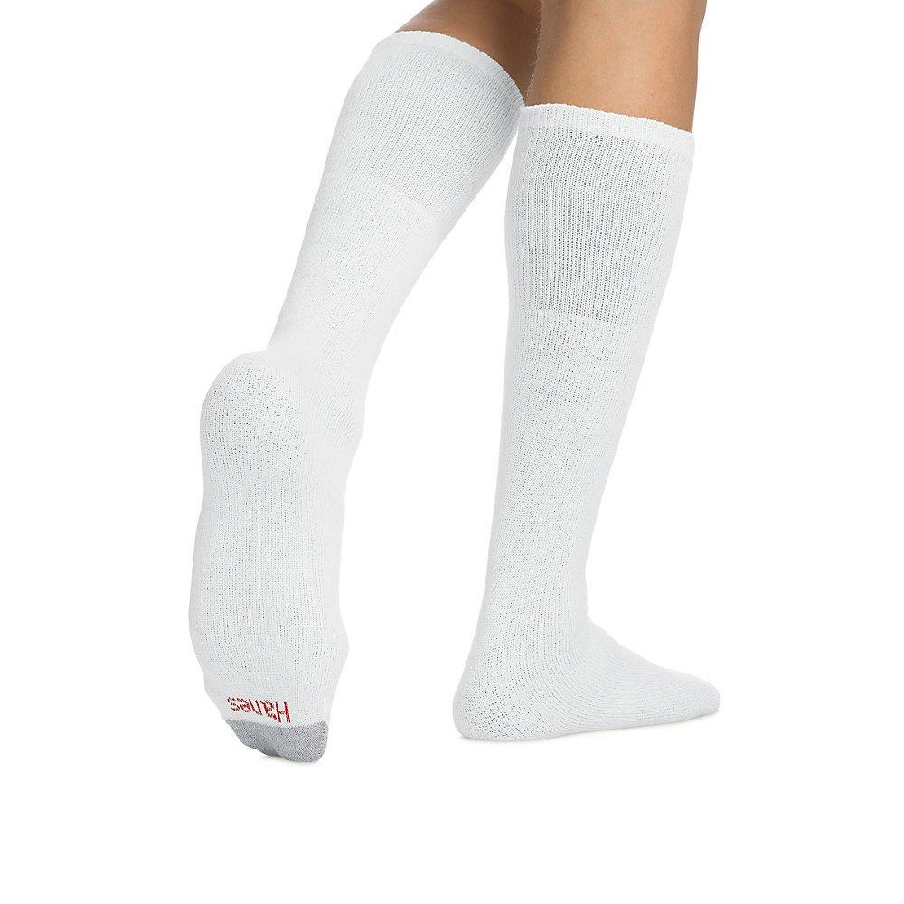 Hanes Men's Over-the-Calf Tube Socks,White,1 Pack (12 Pairs) Sock:10-13 / Shoe:6-12