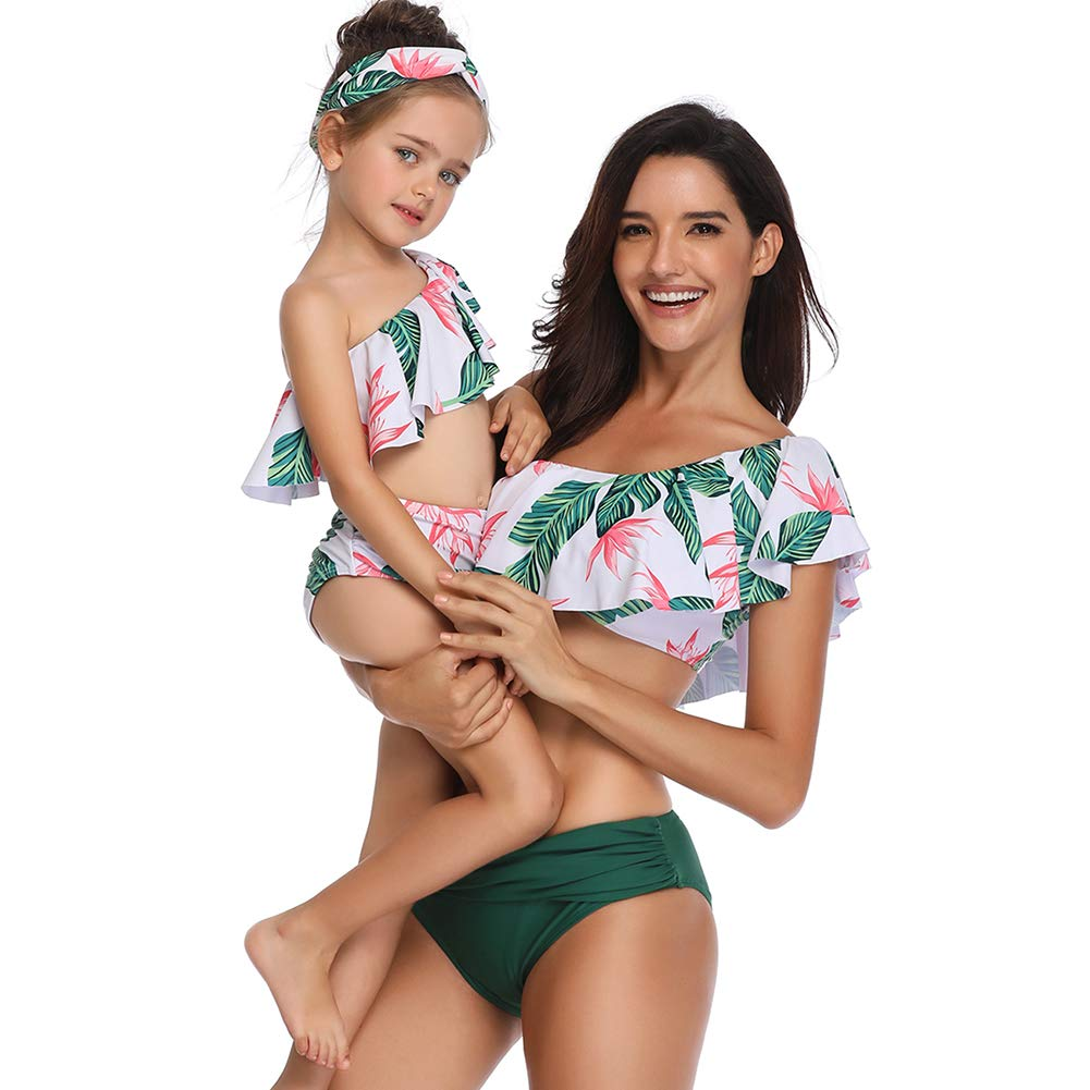 Lover-Beauty Cute Swimsuits Mommy and Daughter Bathing Suit Family Matching Bikini