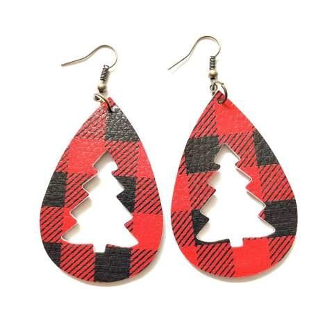Blue and Black Small Teardrop Drop and Dangle Handmade Resin Earrings