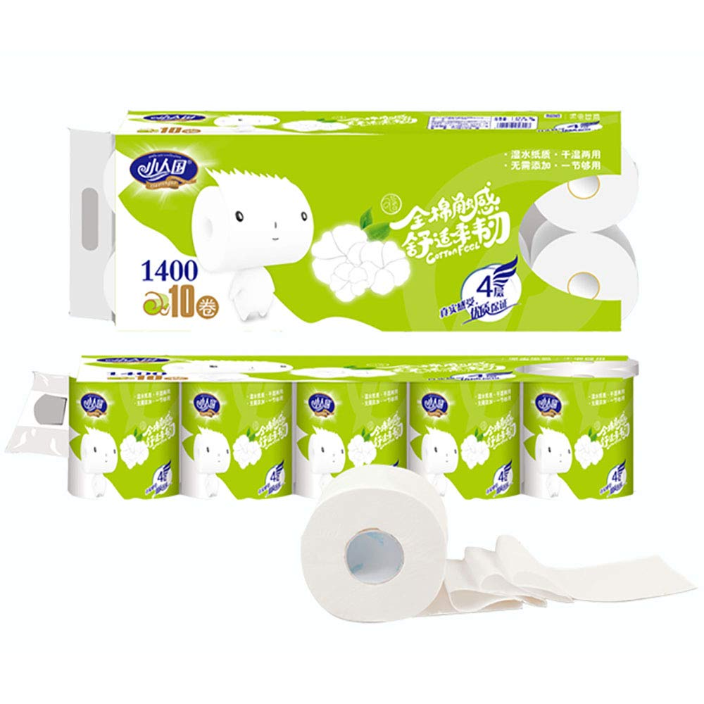 Toilet Paper Bulk Angel Soft,4 Layers Thick 10 Rolls Family Pack,Suitable for Bathroom Toilet Paper Holder(140G/Rolls)