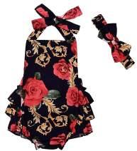 CM C&M WODRO Newborn Baby Toddler Girls Sunflower Romper Strap Backless Bodysuit Jumpsuit Outfits Clothes Summer