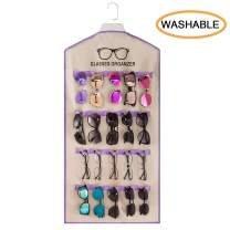 TRIUMPH VISION Wall Sunglasses Hanging Organizer - 20 Slots Sunglasses Holder for Home Wall Safety Glasses Rack Wall Mounted Sun Glasses Rack Shelf