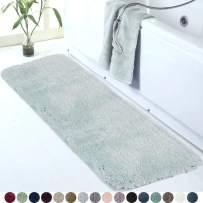 Walensee Large Bathroom Rug (24 x 60, Aqua Blue) Extra Soft and Absorbent Shaggy Bathroom Mat Machine Washable Microfiber Bath Mat for Bathroom, Non Slip Bath Mat, Bathroom Floor Mats Rubber Back