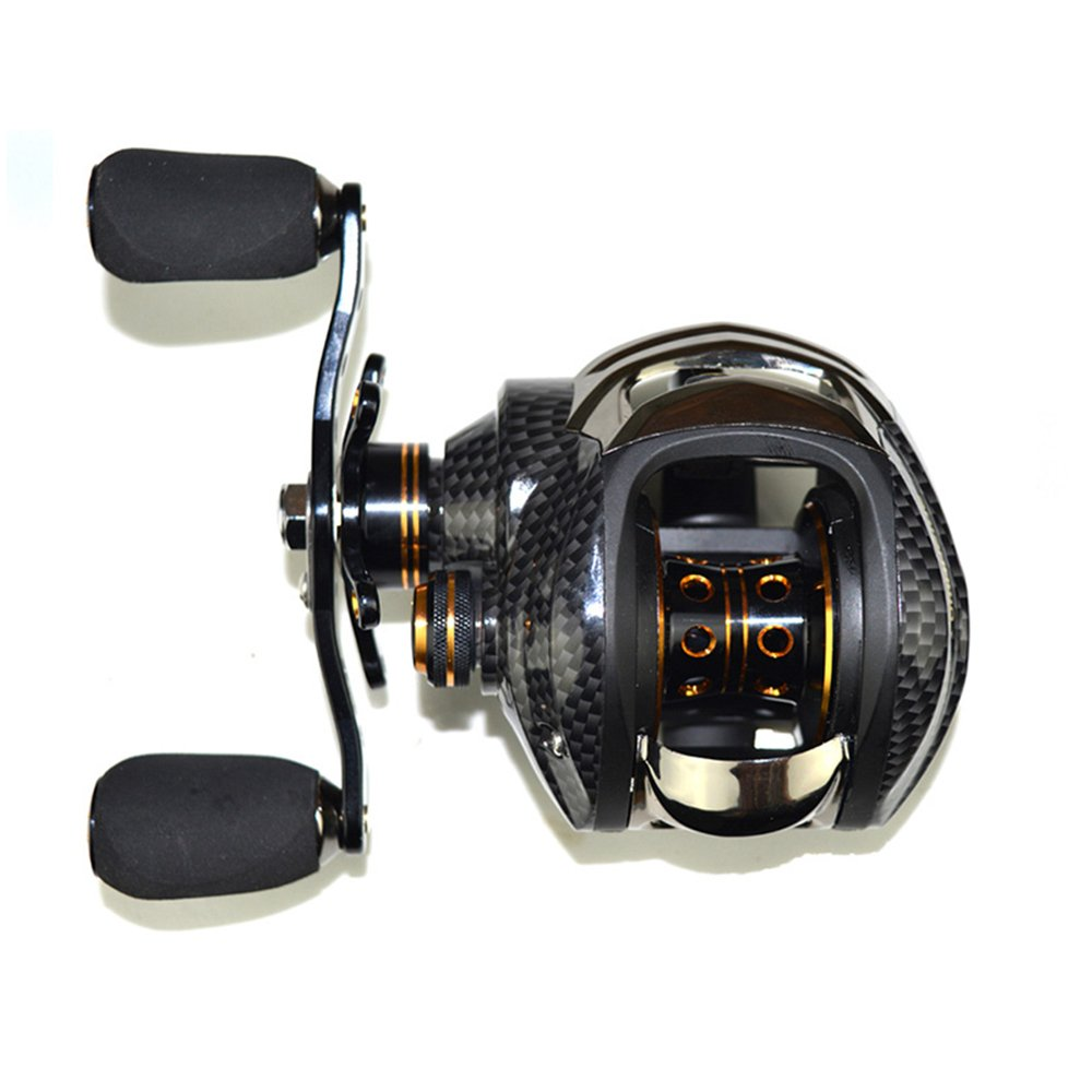 Lixada Baitcasting Reel 17+1 Ball Bearings Baitcast Fishing Reel 7.0:1 Gear Ratio Bait Casting Reels Left/Right Hand with Dual Brake System & Luxury Paint Fish Reel