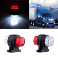 cciyu Car Marker Light 2Pack Red White LED Truck Trailer Van Lorry Side Marker Indicator Light Lamp 10-30V
