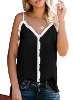 Itsmode Women's Crew Neck Knit Sleeveless Tank Tops Loose Casual Cami Blouse Shirts