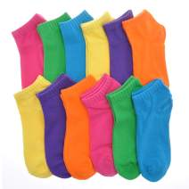 Angelina Cotton Variety Low Cut Trainer Socks (12-Pack)