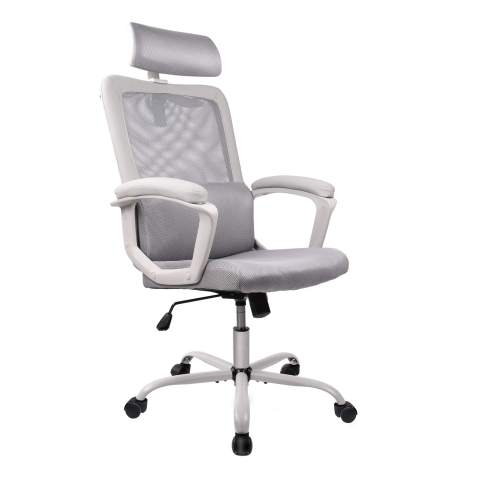 Smugdesk Extra Large Mid Back Breathable Mesh Office Desk Computer Desk Chair with Lumbar Support