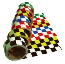 CBT20218 National Marker Tape, Checkerboard, Black Yellow, 2X18 Yards