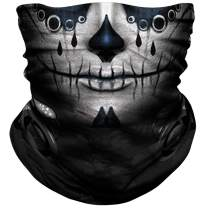 NTBOKW Skull Mask Half Face Mask Bandana for Sun Dust Wind Protection Mask for Riding Motorcycle Cycling Fishing Hunting Summer Seamless Bandana Breathable Thin 3D Skeleton Tube Mask for Men Women