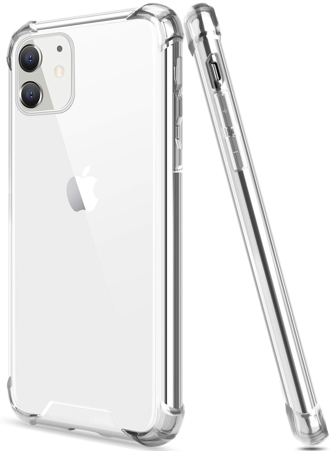 Salawat for iPhone 11 Case, Clear iPhone 11 Case Cute Gradient Slim Phone Case Cover Reinforced TPU Bumper Hard PC Back Shockproof Protective Case for iPhone 11 6.1inch 2019 (Crystal Clear)