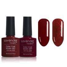 Nail Gel Polish Soak Off UV Gel Glitter Red P226