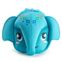 KIDDIETOTES Elephant Flexible Softcase Backpack for Kids, Toddlers, and Children - Perfect for Daycare, Preschool, Kindergarten, and Elementary School