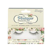The Vintage Cosmetic Company | Betty Reusable Lashes | Synthetic False Strip - Latex Free Adhesive Included | Easy to Apply & Remove | Light weight & Comfortable | For Natural Cat Eye Look | 12 mm