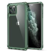 ESR Air Armor Designed for iPhone 11 Pro Max Case [Shock-Absorbing] [Scratch-Proof] [Military Grade Protection] Hard PC + Flexible TPU Frame, for The iPhone 11 Pro Max (2019), Transparent Dark Green