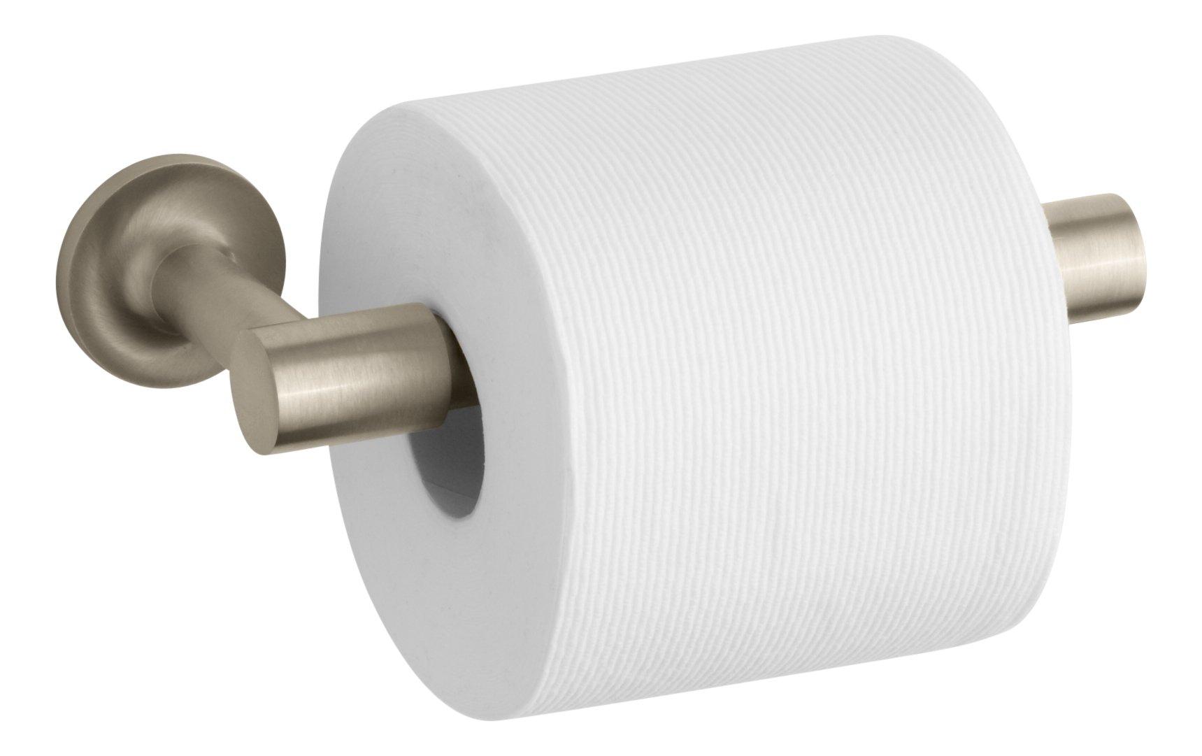 Kohler K-14377-BV Purist Toilet Paper Holder, Vibrant Brushed Bronze