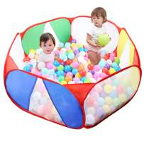 Eocolz Kids Ball Pit Tents Toddler Play Tent Baby Playpen Healthy Toy for Boys Girls Infant Children with Zippered Storage Bag, Indoor Outdoor Gift, 39.4 Inch, Balls Not Included (Red-r)