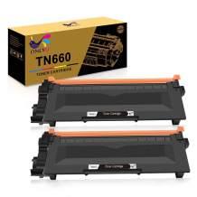 ONLYU Compatible Toner Cartridge Replacement for Brother TN660 TN630 DCP-2560DN MFC-L2707DW MFC-L2700DW HL-L2380DW DCP-L2540DW HL2340DW MFC-L2740DW MFC-L2685DW HL-L2300D Printer (Black, 2-Pack)