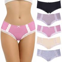 LYYTHAVON Women's Underwear Breathable Cotton Brief Ladies Panties
