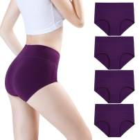 wirarpa Women's Bamboo Underwear Modal Microfiber Briefs Soft Stretchy High Waist Full Coverage Panties Multipack