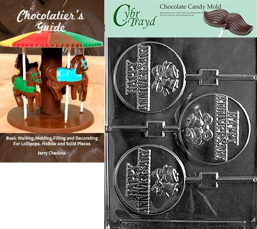 """Cybrtrayd""""Happy Anniversary Pop"""" Wedding Chocolate Candy Mold with Chocolatier's Guide"""